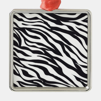Black and White Zebra Stripes Print Pattern Gifts Metal Ornament