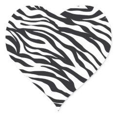 Black and White Zebra Stripes Print Pattern Gifts Sticker