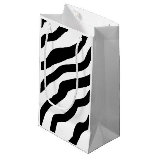 Black and White Zebra Stripes Small Gift Bag