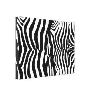Black And White Zebra Stripes Wall Canvas