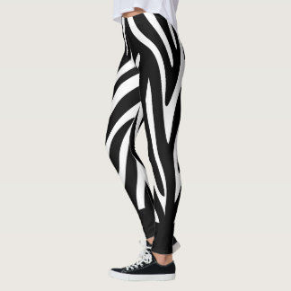 Black and White Zebra Stripes with Bold Solid Leggings