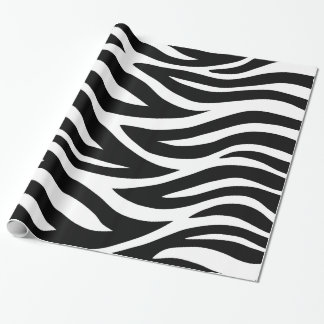 Black and White Zebra Stripes Wrapping Paper