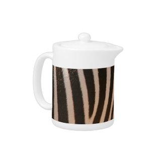 Black and White Zebra Teapot