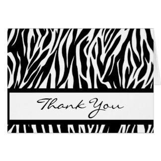 Black and White Zebra Thank You Card