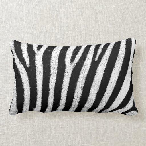 Black And White Zebra Throw Pillows : Black and white zebra throw pillow Zazzle