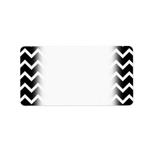 Black and White Zig Zag Pattern. Address Label