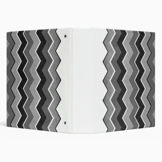 Black and White Zig Zag Pattern Binders