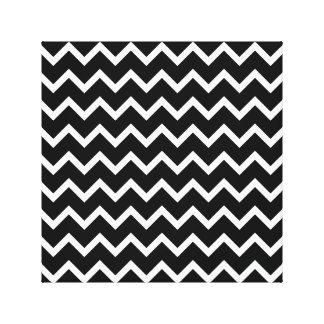 Black and White Zig Zag Pattern. Canvas Print