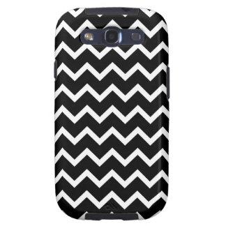 Black and White Zig Zag Pattern Samsung Galaxy S3 Case
