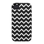 Black and White Zig Zag Pattern. Vibe iPhone 4 Cases