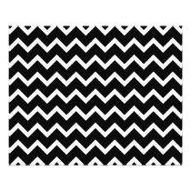 Black and White Zig Zag Pattern. Flyer