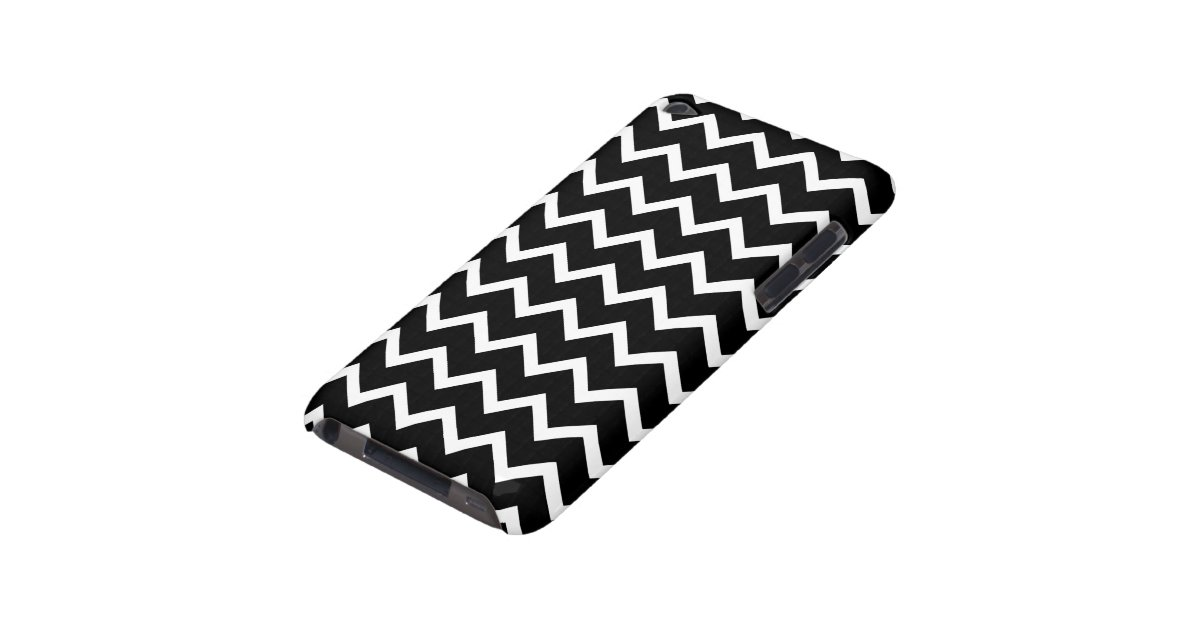 Black and White Zig Zag Pattern. iPod Touch Case-Mate Case