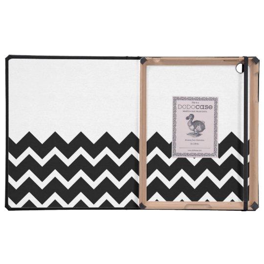 Black and White Zig Zag Pattern. Part Plain. iPad Covers