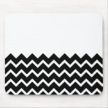 Black and White Zig Zag Pattern. Part Plain. Mouse Pads