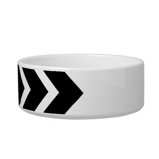 Black and White Zig Zag Pattern. Part Plain. Pet Water Bowls
