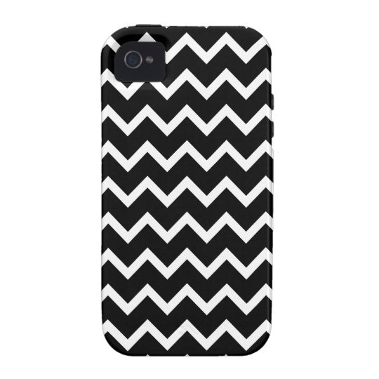 Black and White Zig Zag Pattern. Vibe iPhone 4 Cover