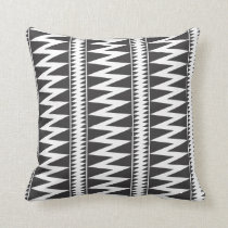 black and white zig zag stripes throw pillow