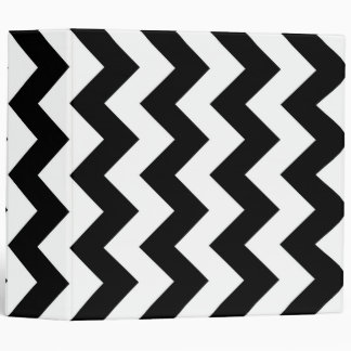 Black and White Zigzag 3 Ring Binder