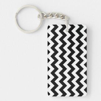 Black and White Zigzag Acrylic Key Chains