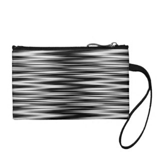 Black and White Zigzag Coin Wallet