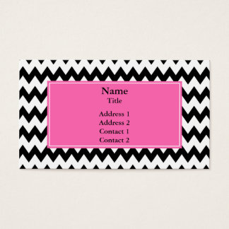 Black and White Zigzag Business Card