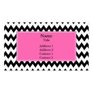 Black and White Zigzag Business Cards