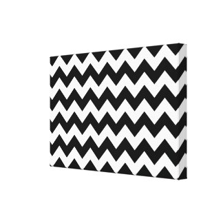 Black and White Zigzag Canvas Print