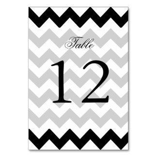 Black and White Zigzag Chevron Pattern Card