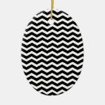 Black-And-White-Zigzag-Chevron-Pattern Ornament