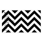 Black and white  Zigzag Chevrons Pattern Business Card Templates