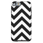 Black and white Zigzag Chevrons Pattern iPhone 6 Case