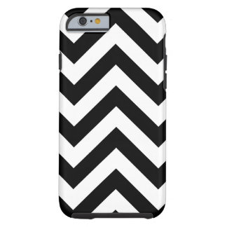 Black and white Zigzag Chevrons Pattern Tough iPhone 6 Case