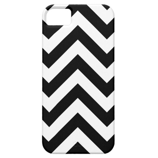 Black and white  Zigzag Chevrons Pattern iPhone SE/5/5s Case