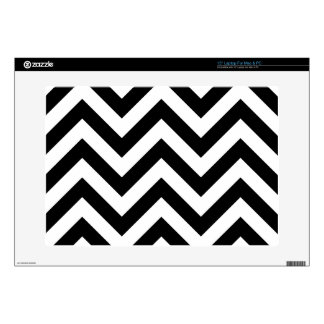 Black and white  Zigzag Chevrons Pattern Laptop Decal