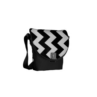 Black and White Zigzag Courier Bags