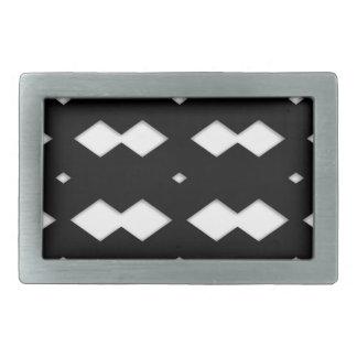 Black and White Zigzag Design Rectangular Belt Buckle