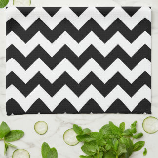 Black and White Zigzag Hand Towels
