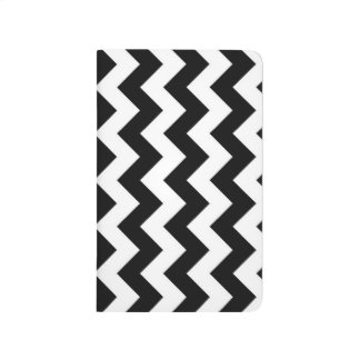 Black and White Zigzag Journal