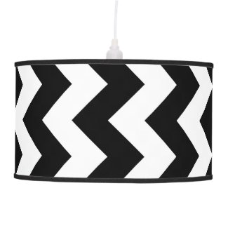 Black and White Zigzag Lamps