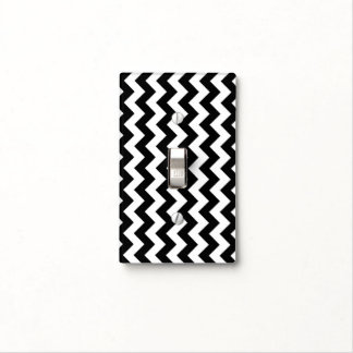 Black and White Zigzag Light Switch Cover