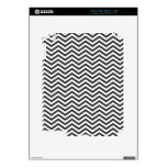 Black and White ZigZag Pattern Decal For iPad 2
