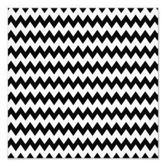 Black and White Zigzag Pattern Photo Print