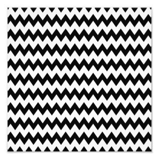 Black and White Zigzag Pattern Photographic Print