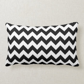 Black and White Zigzag Pillow