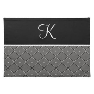 Black and White Zigzag Placemat
