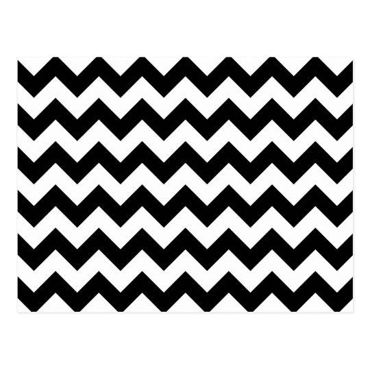 Black and White Zigzag Postcard