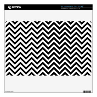 Black and White Zigzag Stripes Chevron Pattern MacBook Air Decal