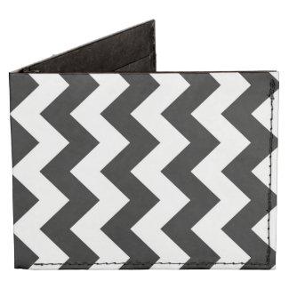 Black and White Zigzag Tyvek Wallet
