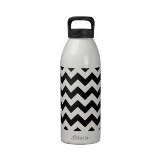 Black and White Zigzag Water Bottles
