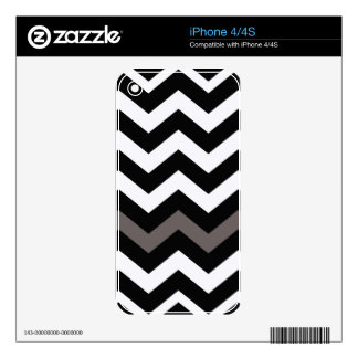 Black and White Zigzag With Gray Striped iPhone 4 Skins